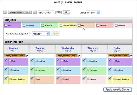Teacherhelp2014 weekly lesson planner view planner view fandeluxe Image collections